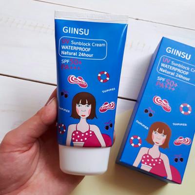 Солнцезащитный водоотталкивающий крем Giinsu UV Sunblock Cream Waterproof Natural 24 hour SPF 50+ PA+++ (100 мл)