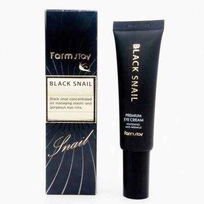 Крем с черной улиткой вокруг глаз Farm Stay Black Snail Premium Eye Cream (30 мл)