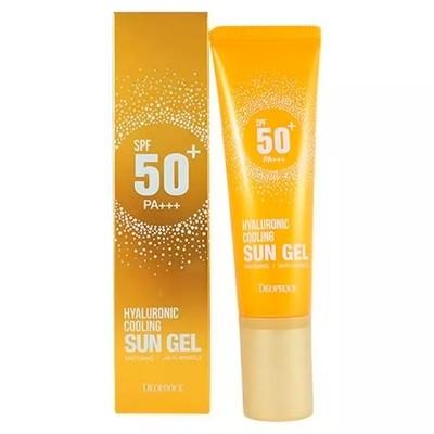 Солнцезащитный гель для лица с гиалуроновой кислотой Deoproce Hyaluronic Cooling Sun Gel SPF50+/PA+++ (50 мл)