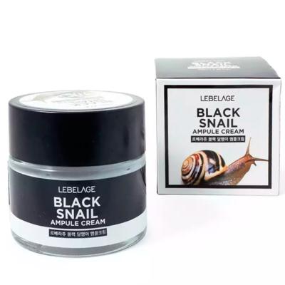 Ампульный крем с муцином черной улитки Lebelage Black Snail Ampule Cream (70 мл)