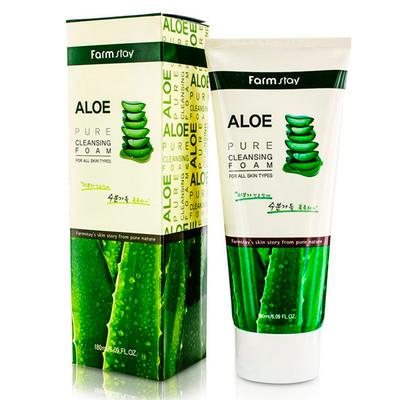 Пенка для умывания с алоэ Farm Stay Aloe Pure Cleansing Foam (180 мл)