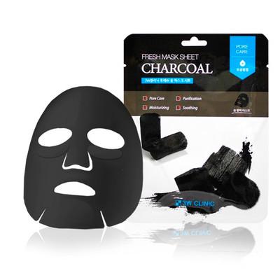 Тканевая маска с древесным углем 3W Clinic Fresh Charcoal Mask Sheet (20 мл)