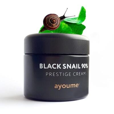 Крем для лица с муцином черной улитки Ayoume 90%  Black Snail Prestige Cream (70 мл)