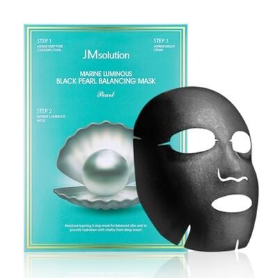 Трёхшаговый набор для сияния кожи JMsolution Marine Luminous Black Pearl Balancing Mask  (30 мл)