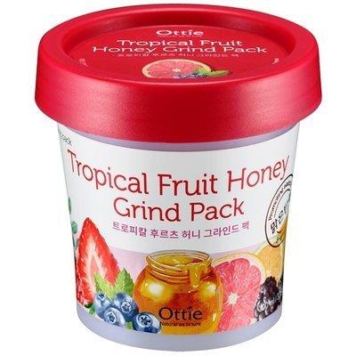 Ночная маска для лица с экстрактом тропических фруктов и меда Ottie Tropical Fruit Green Pack