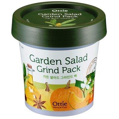 Глиняная освежающая маска для яркости тона кожи с овощным комплексом Ottie Garden Salad Green Pack