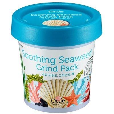 Успокаивающая маска для лица с экстрактом водорослей и морской водой Ottie Soothing Seaweed Green Pack