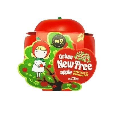 Маска для лица осветляющая Urban Dollkiss New Tree Apple Instant Tone-up Brightening Pack