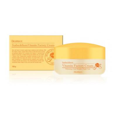 Крем ночной омолаживающий Deoproce Seabuckthorn Vitamin Factory Cream