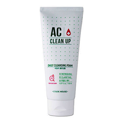 Пенка для проблемной кожи Etude House AC Clean Up Daily Cleansing Foam