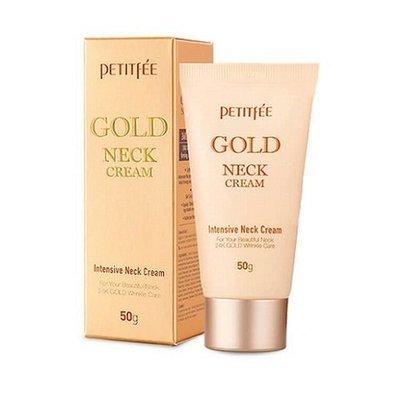 Крем для шеи антивозрастной c золотом Petitfee Gold Intensive Neck Cream (50 мл)
