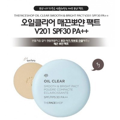 Пудра компактная The Face Shop Oil Clear Smooth Bright Pact №201 от The Face Shop