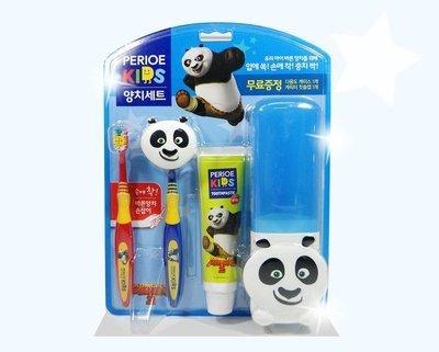 Набор Perioe Kids для мальчиков: зубная паста, 2 щетки, контейнер
