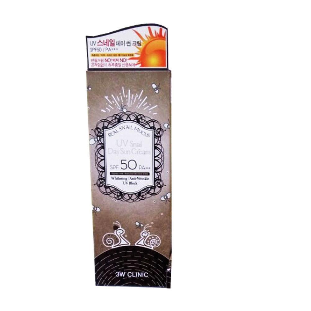 Солнцезащитный крем с улиточным муцином 3W Clinic UV Snail Day Sun Cream SPF 50 PA+++