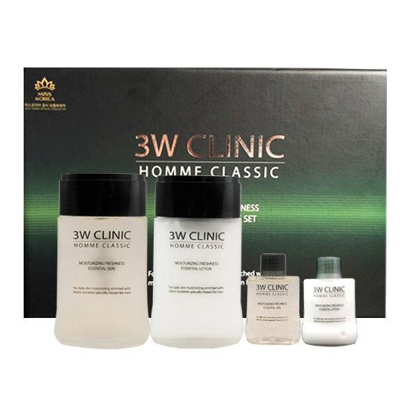 Подарочный набор для мужчин 3W Clinic Homme Classic Moisturizing Freshness Essential Skin Care Set