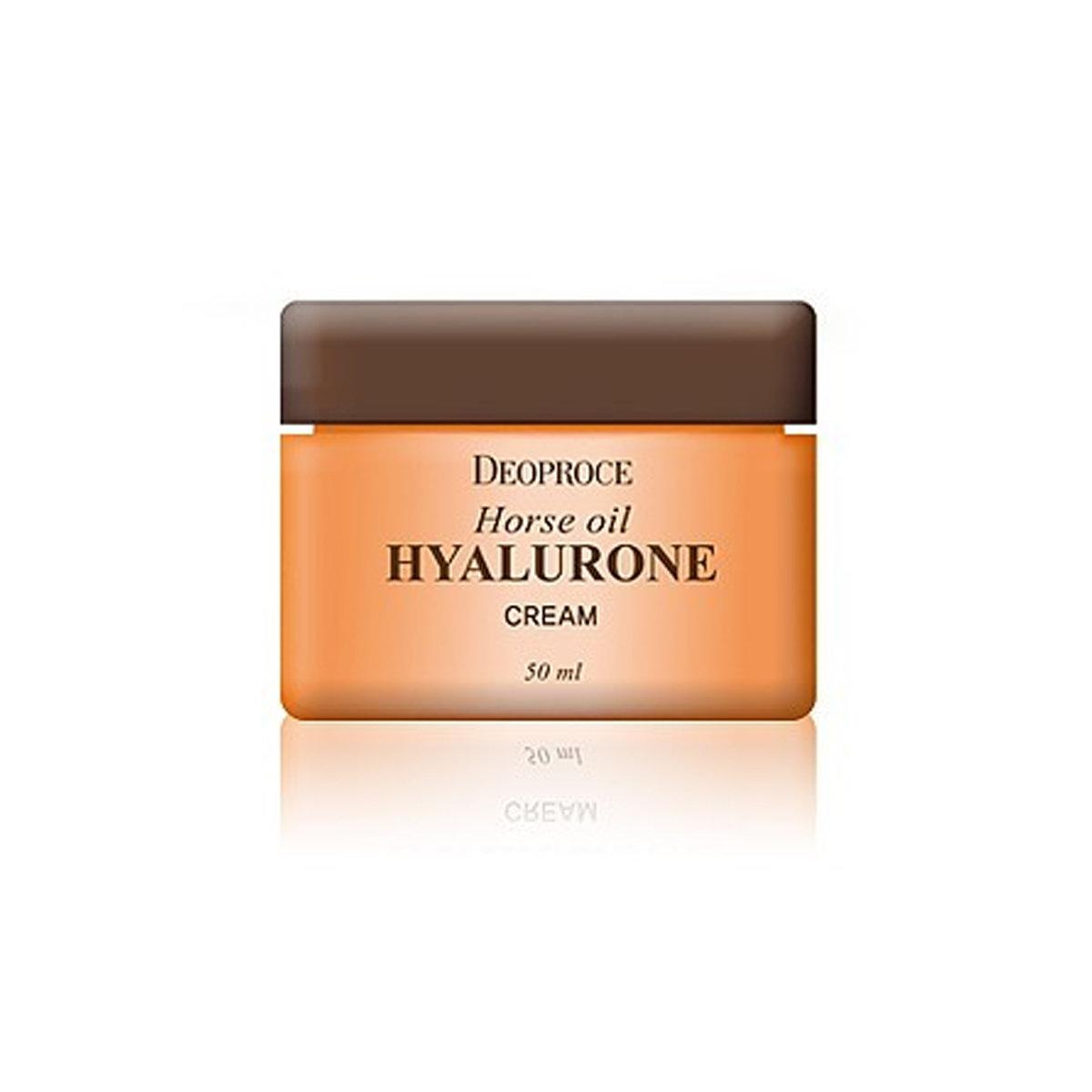 Крем для лица с гиалуроновой кислотой и лошадиным жиром Deoproce Horse Oil Hyalurone Cream (50 мл)