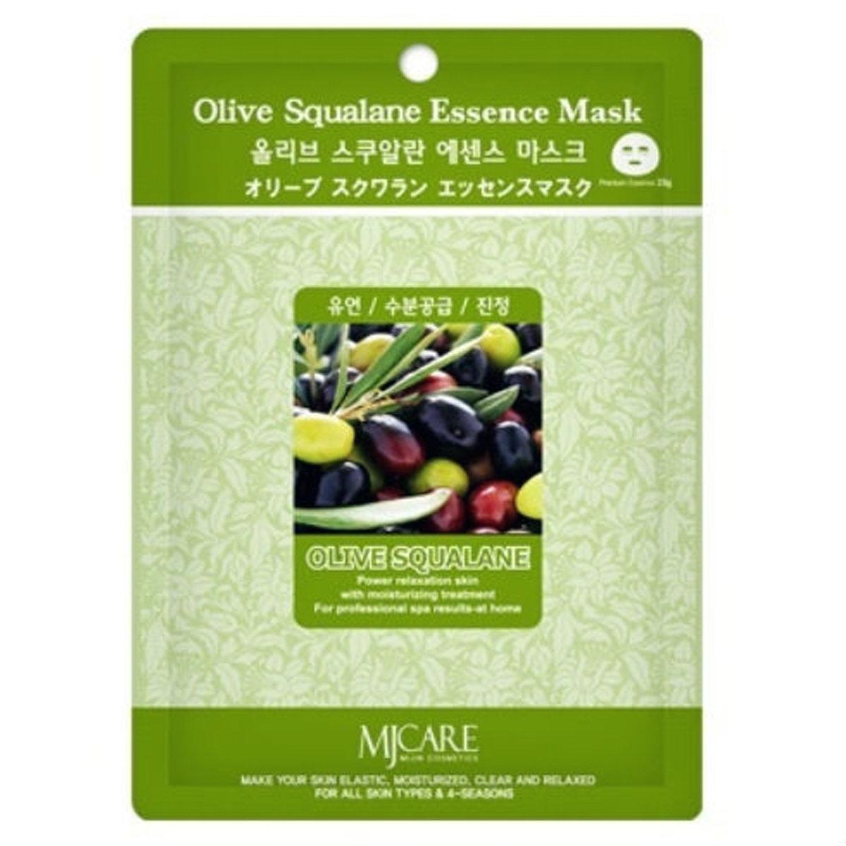 Маска тканевая олива Mijin Olive Squalane Essence Mask 23гр