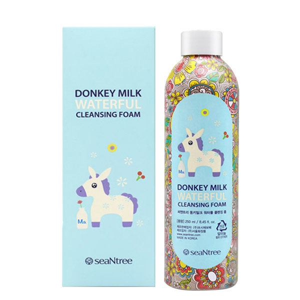 Пенка с ослиным молоком SeaNtree Donkey Milk Waterful Cleansing Foam (250 мл)