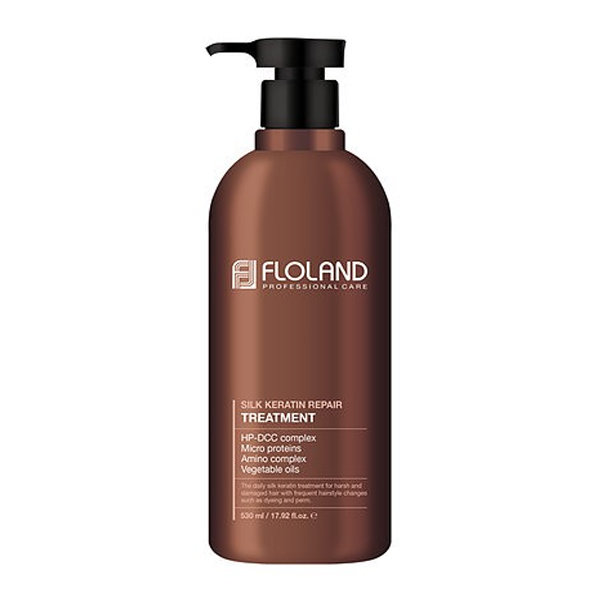 Маска-бальзам восстанавливающая с кератином Floland Premium Silk Keratin Treatment (530 мл)