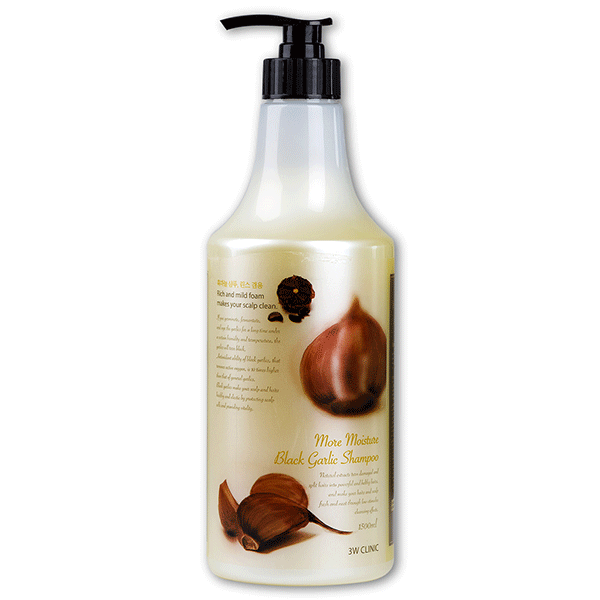 Укрепляющий шампунь 3W Clinic More Moisture Black Garlic Shampoo (500 мл)