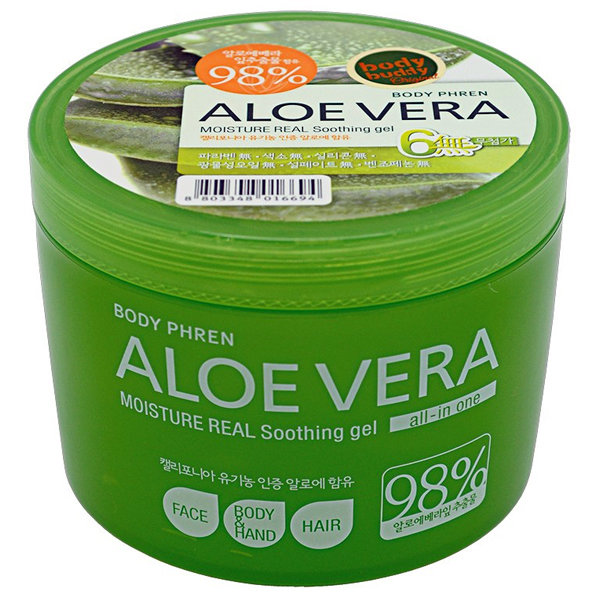 Увлажняющий гель с алоэ 98%  Welcos Kwailnara Aloe Vera Moisture Real Soothing Gel (500 мл)