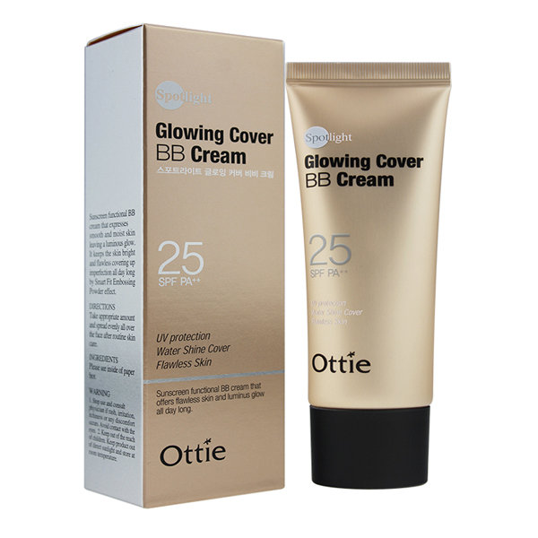 Увлажняющий и легкий ВВ-крем Ottie Spotlight Glowing Cover BB Cream SPF25 PA++  (40 мл)