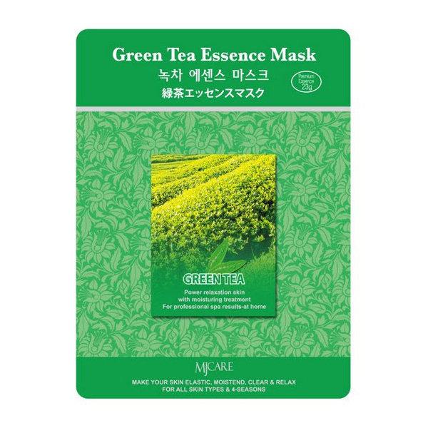 Маска тканевая зеленый чай Mijin Green Tea Essence Mask 23 гр