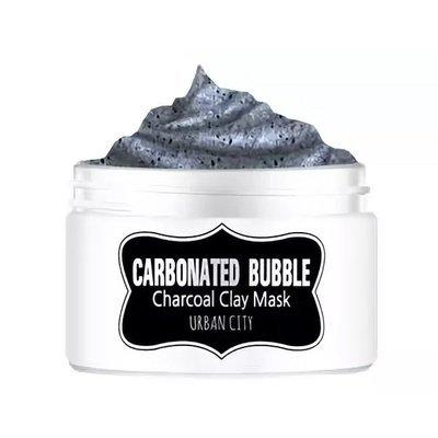 Угольная глиняно-пузырьковая маска Urban City Carbonated Bubble Charcoal Clay Mask (100 мл)