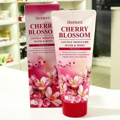 Крем для рук и тела питательный Deoproce Moisture Hand Body Cherry Blossom Lovery (100 мл)