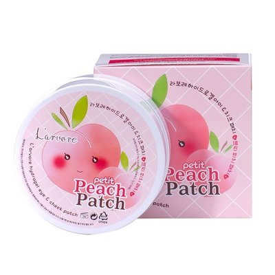 Патчи для глаз L'arvore Hydrogel Eye Cheek Petit Peach Patch