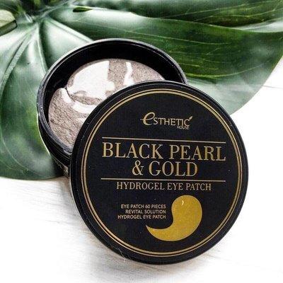 Гидрогелевые патчи для кожи вокруг глаз с жемчугом и золотом Esthetic House Black Pearl Gold Hydrogel Eye Patch (60 шт)