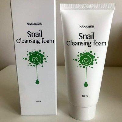 Очищающая пенка Nanamus Snail Foam Cleansing (100 мл)