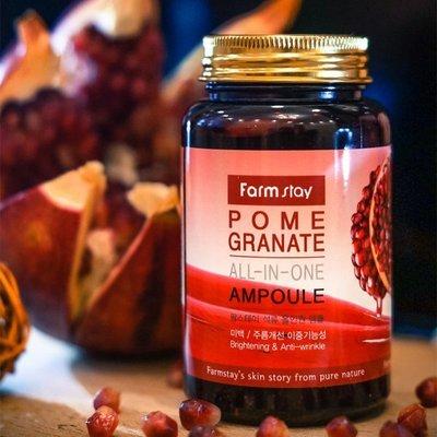 Антивозрастная увлажняющая ампула с экстрактом граната Farm Stay Pomegranate All-In-One Ampoule (250 мл)
