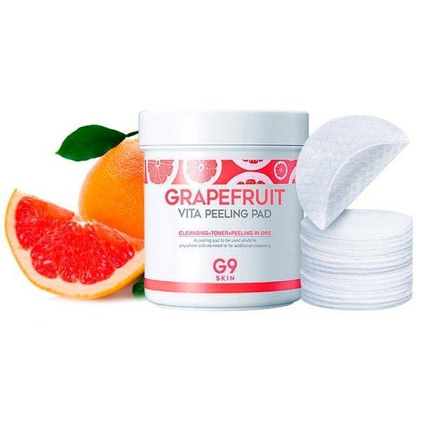 Очищающие диски для пилинга G9 Skin Grapefruit Vita Peeling Pad (100 шт)