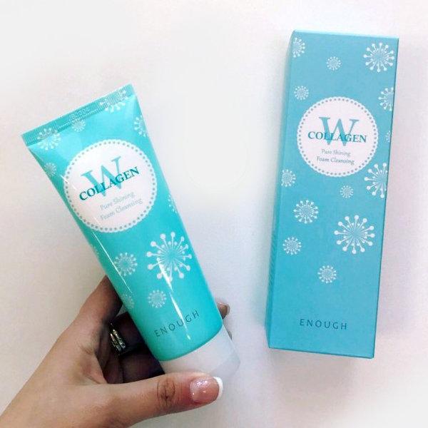 Пенка с морским коллагеном Enough W Collagen Pure Shining Foam Cleansing (100 мл)