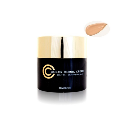 Deoproce CC крем Deoproce Color Combo Cream SPF 50  PA++ Whitening Anti-Wrikle №21 (50 мл)
