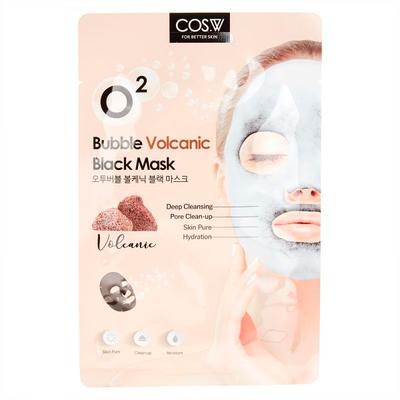 Тканевая кислородная маска вулканическая COS.W O2 Bubble Volcanic Black Mask (20 мл)