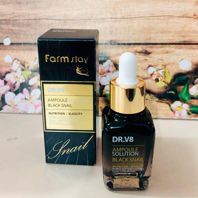 Улиточная сыворотка Farm Stay DR.V8 Ampoule Solution Black Snail (30 мл)