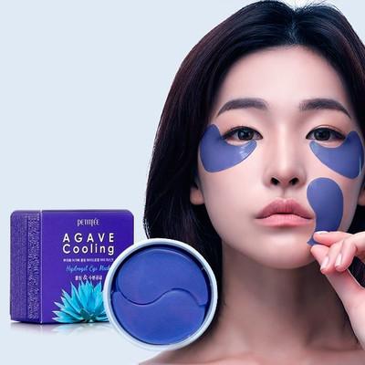 Гидрогелевые охлаждающие патчи для глаз с экстрактом агавы Petitfee Agave Cooling Hydrogel Eye Mask (60 шт)