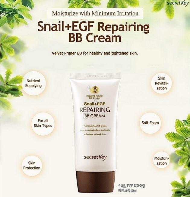Secret Key Snail + EGF Repairing Natural BB Cream