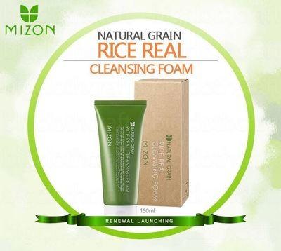 Рисовая пенка для умывания Mizon Rice Real Cleansing Foam