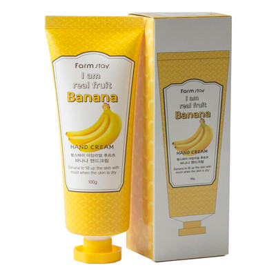 Крем для рук с экстрактом банана Farm Stay I Am Real Fruit Banana Hand Cream (100 мл)