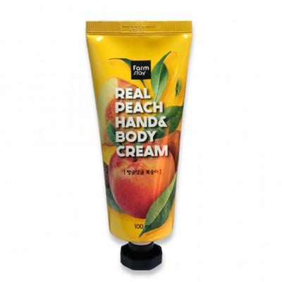 Крем для тела и для рук Farm Stay Real Peach Hand&Body Cream (100 мл)