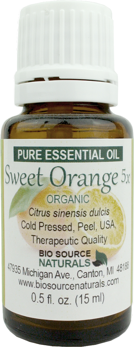 Orange Sweet, Organic, 5X Pure Essential Oil with Analysis Report 00463