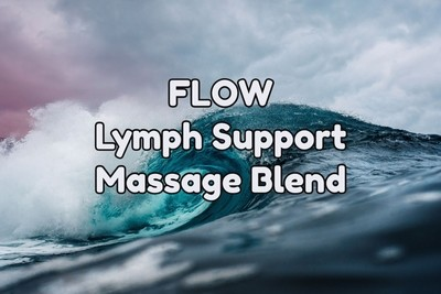 FLOW - Lymph Support Essential Oil Massage Blend    Pump - 8 fl oz (240 ml)