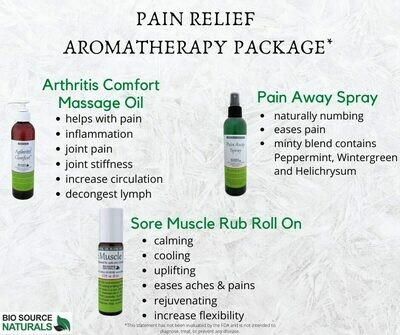 Pain Relief Aromatherapy Package (Pack of 3)