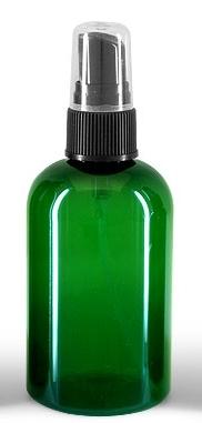 4 fl oz (120 ml) Green Spray Bottle with black fine mist pump sprayer