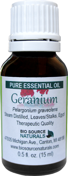Geranium Pure Essential Oil with Analysis Report 00172
