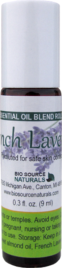 Lavender, French Pure Essential Oil - 0.3 fl oz (9 ml) Roll On OILLAVR