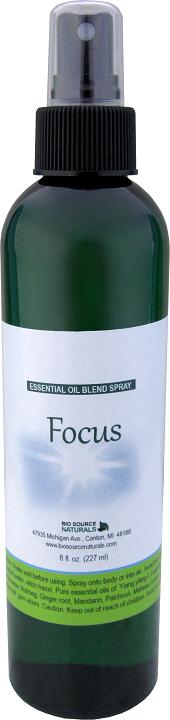 Focus Essential Oil Blend Spray 8 fl oz (227 ml)
